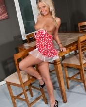 kendrarain dress heels nude blonde perky tanned 10